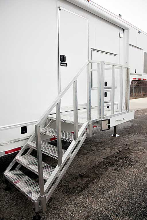 ATP Steps with Platform, Door Accessories, Custom Trailer Options