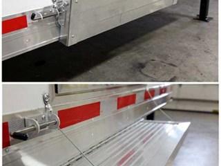 Aluminum Flip Down Step, Door Accessories, Custom Trailer Options