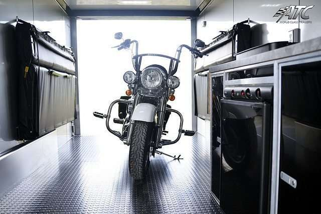 Aluminum Motorcycle Trailer with Bathroom