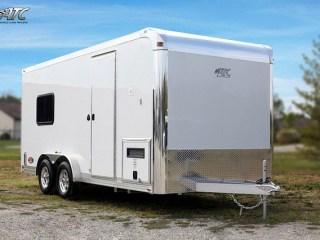 Custom Trailers, Car Hauler, Sport, Motorcycle, Aluminum, with Bathroom