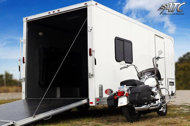 Customized Motorcycle Trailer W Bathroom Mo Great Dane