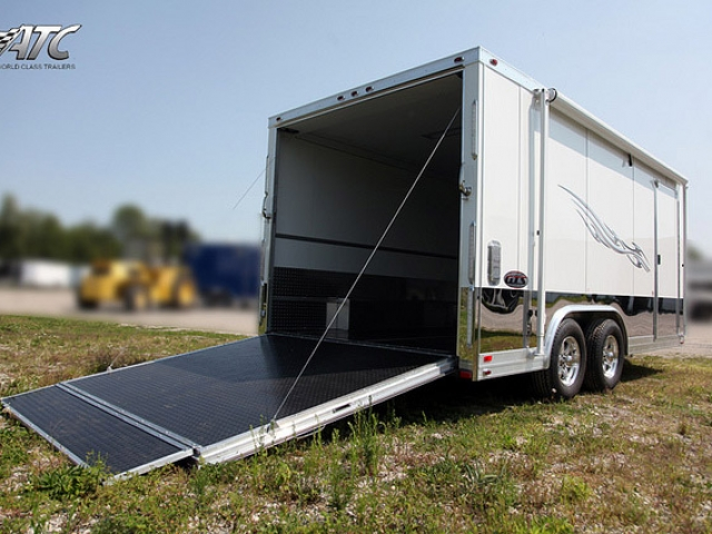 Aluminum Ss Series Motorcycle Trailer Mo Great Dane Trailers