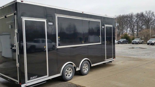 Custom Trailers, Mobile Marketing, Ametek Event, Display