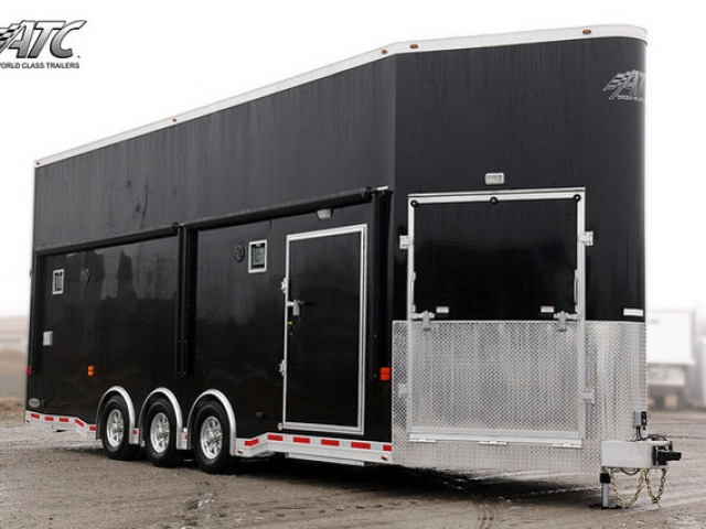 Custom Trailers, Car Hauler, Sport, Stacker, Black ATC