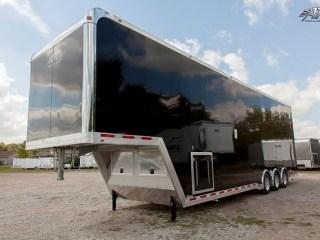 Custom Trailers, Car Hauler, Sport, Stracker, Black, Gooseneck, ATC Aluminum