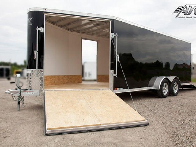Custom Trailers, Car Hauler, Sport, Snowmobile, Black, In Line, Aluminum