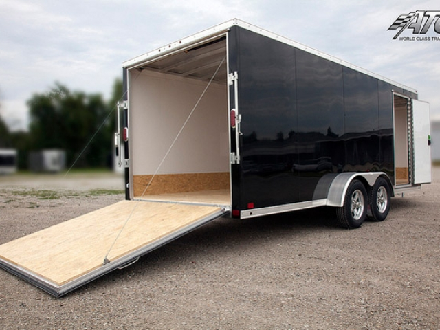 Custom Trailers, Car Hauler, Sport, Snowmobile, Black, In Line, Aluminum