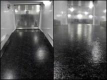 Black Marble Vinyl, Flooring, Custom Trailer Options