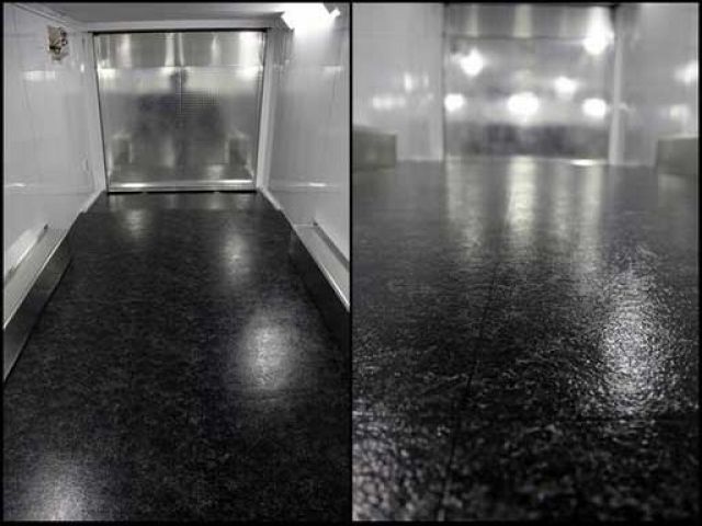 Black Marble Vinyl, Flooring, Custom Trailer Options