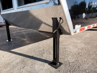 Custom Trailers, Gooseneck, Black, Oil, Field, Splicing