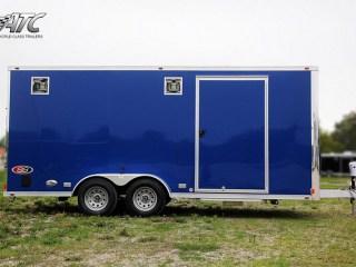 Custom Triailers, Car Hauler, Sport, Motorcycle, Blue, Aluminum