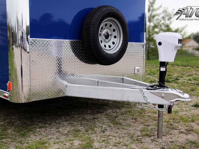 Custom Triailers, Car Hauler, Sport, Motorcycle, Blue, Aluminum