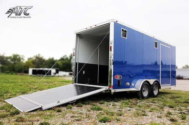 Blue Aluminum Motorcycle Trailer