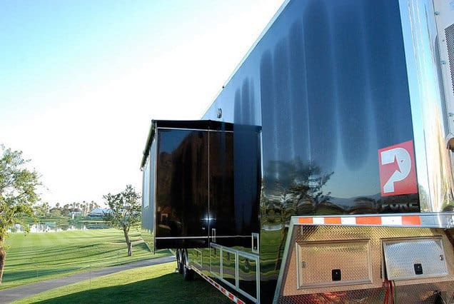 2012 Alum. Quest Gooseneck Car Hauler, Broadcasting Trailers, 40 ft TV Production Trailer