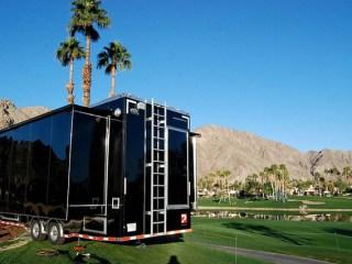 2012 Alum. Quest Gooseneck Car Hauler, Broadcasting Trailers, 40 ft TV Production Trailer
