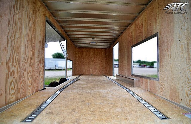 Custom Trailer, Car Hauler, Sport, Car Hauler, Bumper Pull Race Trailers, Bronze ATC Car Trailer, Premium Escape Door