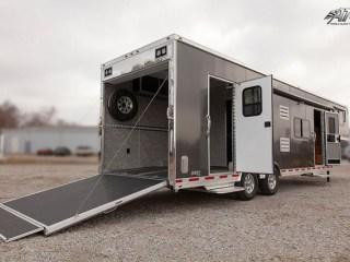 Custom Trailer, Car Hauler, Sport, Race, with Living Quarters, Charcoal Aluminum, Race