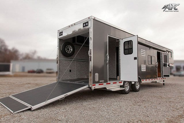 Custom Trailer, Car Hauler, Sport, Race, with Living Quarters, Charcoal Aluminum, Race