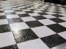 Checkerboard Vinyl, Flooring, Custom Trailer Options