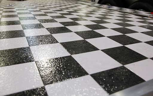 Checkerboard Vinyl, Flooring, Custom Trailer Options