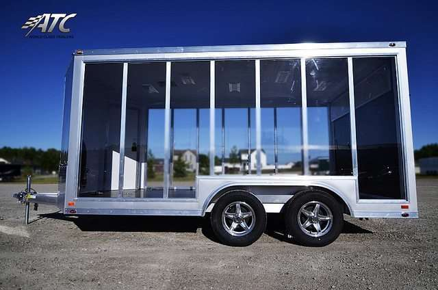 Clear Motorcycle Display Trailer