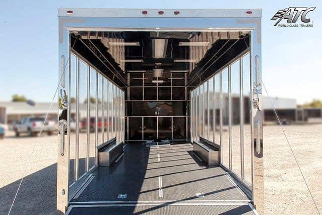 Custom Trailers, Car Hauler, Sport, Bumper Pull Race, Clear Side Vehicle Display, Car Trailer