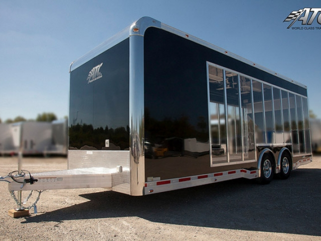 Custom Trailers, Car Hauler, Sport, Bumper Pull Race, Clear Side Vehicle Display, Car Trailer