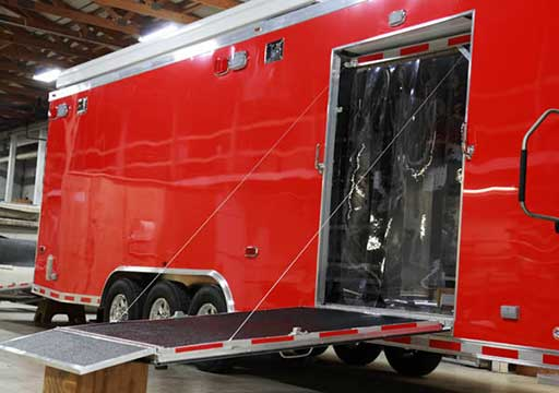 Cold Curtain Door, Custom Trailer Options