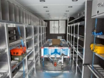 Custom Aluminum Shelving, Cabinets, Storage, Custom Trailer Options