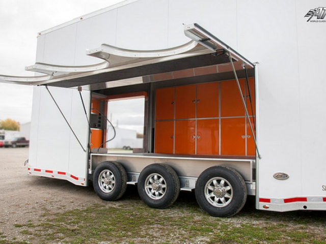 Custom Trailers, Car Hauler, Sport, Stacker, Aluminum, Escape Door