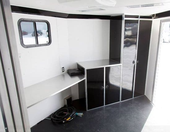 Custom Trailers, Commercial Custom Trailers, Custom Mobile Signage Trailer, with Storage