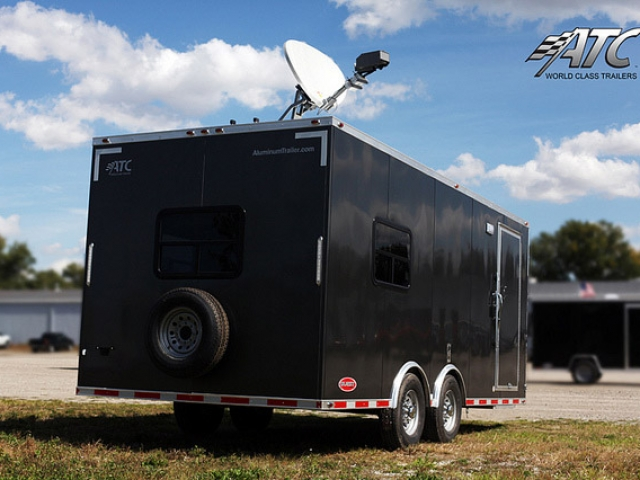 Custom Office Trailer Satellite Antenna