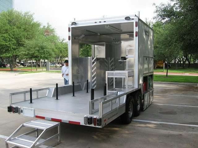 Custom Tool Storage Oil Trailers