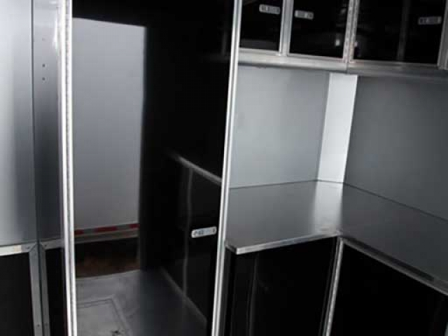 Dresser Closet, Cabinets, Storage, Custom Trailer Options