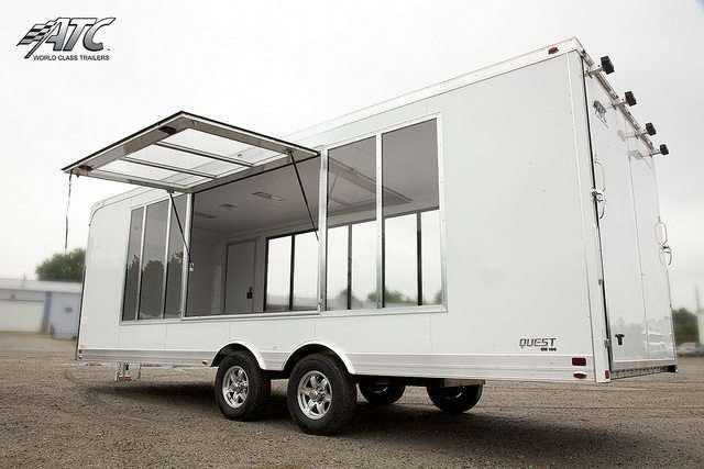 Glass Side ATC Car Hauler Display Trailer
