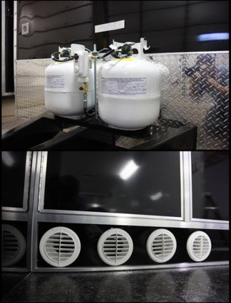 Ducted Propane Furnace, Exterior Tanks, Heating System, Air Conditioning System, Custom Trailer, Options
