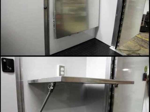 Folding Counter, Cabinets, Storage, Custom Trailer Options
