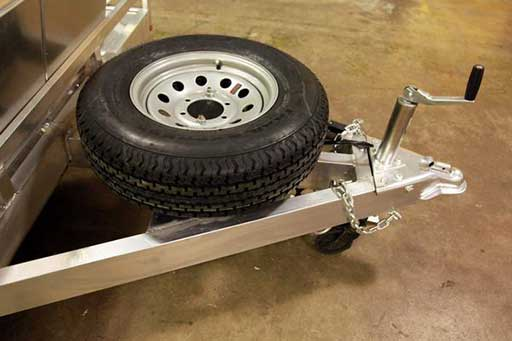 Flat Tongue Mount Spare, Axles, Tires, Custom Trailer Options