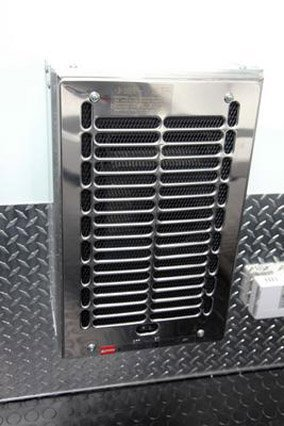Force Air Electric Heater, Heating System, Air Conditioning System, Custom Trailer, Options