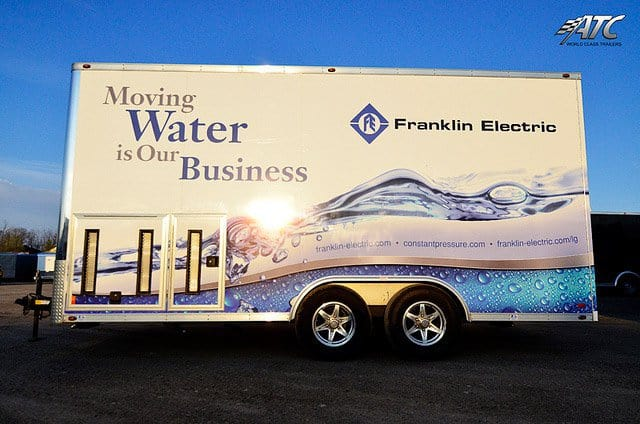 Custom Trailers, Mobile Marketing, Franklin Electric