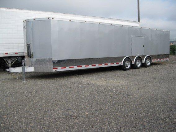 Custom Trailer,Car Hauler, Sport, Bumper Pull Race, Freeman, Pull Aluminum Car Trailer, Freeman 34 ft
