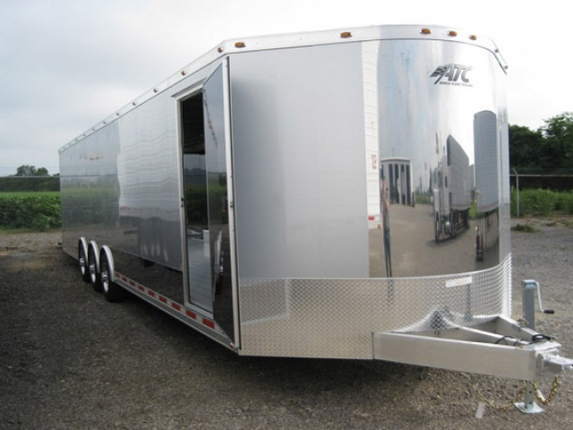 Custom Trailer,Car Hauler, Sport, Bumper Pull Race, Freeman, Pull Aluminum Car Trailer, Freeman 34 ft