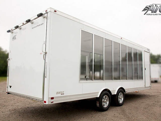 Custom Trailers, Car Hauler, Sport, Bumper Pull Race, Side ATC Display