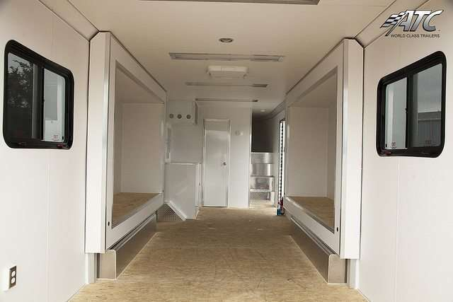 Race Trailer with Slideouts and Living Quarters