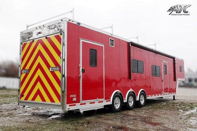 Custom Trailers, Emergency Management, Rescue, Gooseneck, Slideout, Bathroom