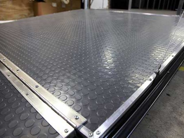 Gray Non-Skid Coin Floor, Flooring, Custom Trailer Options