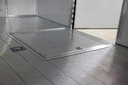 In Floor Spare Tire Compartment, Axles, Tires, Custom Trailer Options