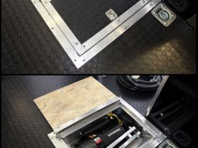 In-Floor Winch Box, Winch, Air Compressor, Custom Trailer, Options