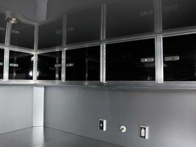 L-Shape Upper Alm Cabinet, Storage, Custom Trailer Options