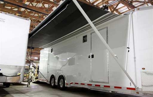 Manual Awning, Custom Trailer Options